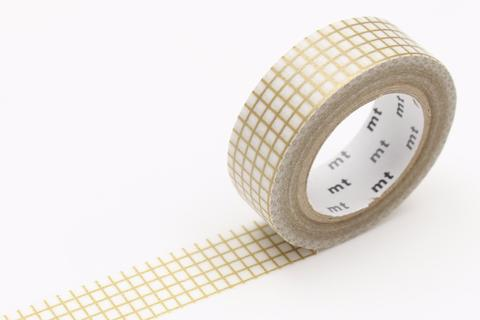 MT Washi Tape/ Graph Gold