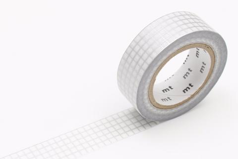 MT Washi Tape/ Graph Silver 2