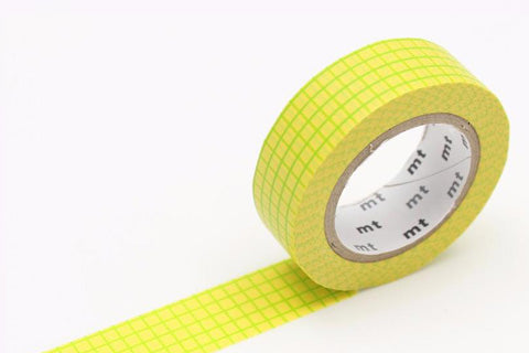 MT Washi Tape/ Graph Field Mustard