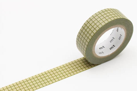 MT Washi Tape/ Graph Moss