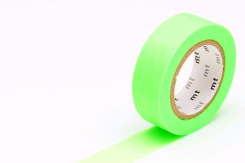 MT Washi Tape/ Shocking Green