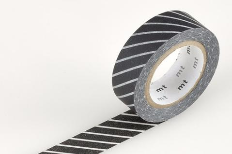 MT Washi Tape/ Wide Stripe Black