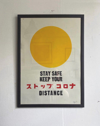 STOP CORONA/ Poster/ Yellow Dot