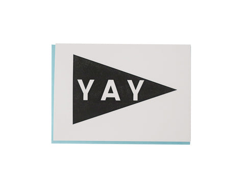 YAY Pennant Card / Black