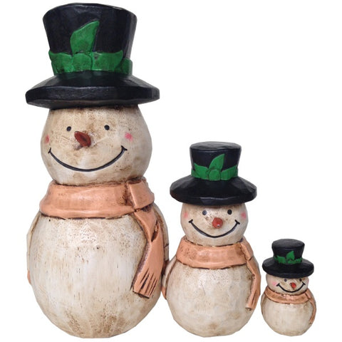 Wooden Doll/ Black Hat Snowman