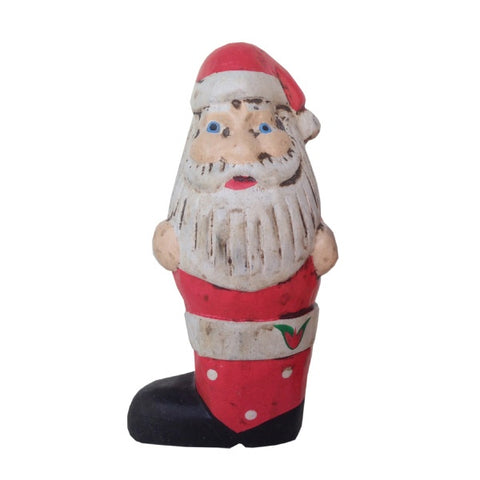 Wooden Doll/ Boot Santa