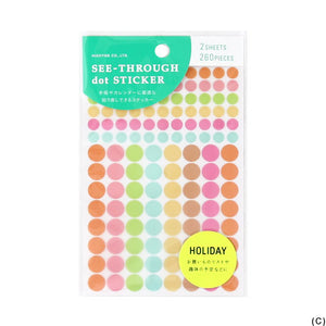 See Thorugh Dot Sticker(Pink)