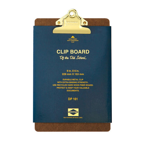Old School Clipboard A5 Gold Clip