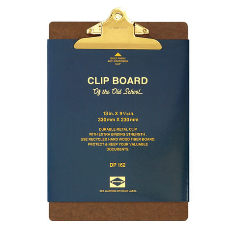 Old School Clipboard/ A4/ Gold Clip (PENCO)