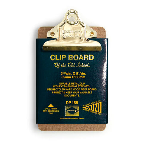 Old School Mini Clipboard (PENCO)/ Gold