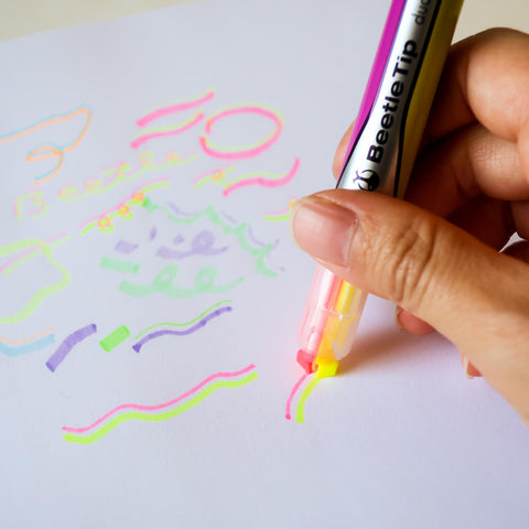 Beetle Tip Dual Color Highlighter (KOKUYO)