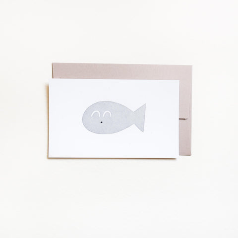 OITAMA Mini Letterpress Card/ Fish