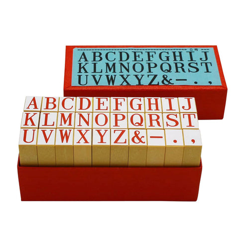 SHACHIHATA Rubber Stamp Alphabet No.0