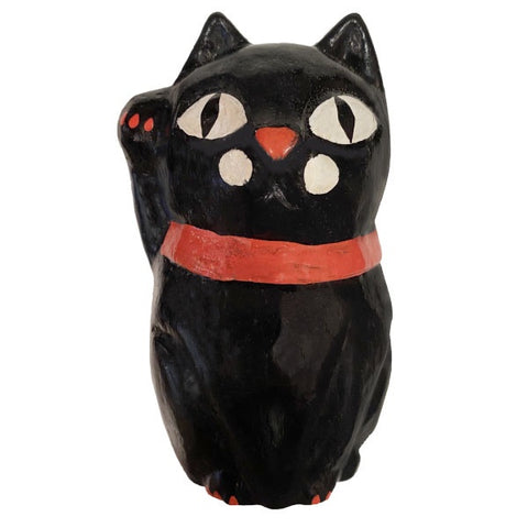 Wooden Doll/ Beckoning Cat/ Black