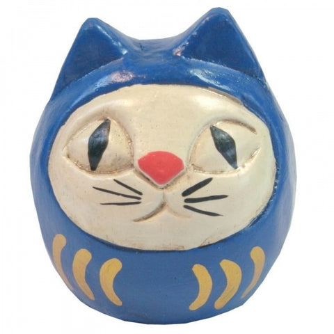 Wooden Doll/ Dharma Cat/ Blue x White