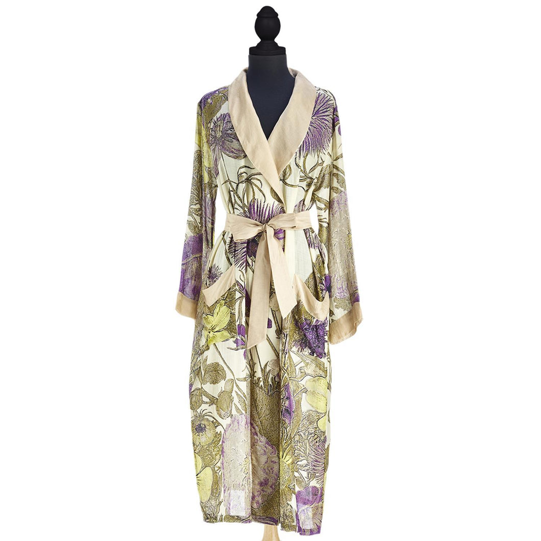 Thistle Purple Robe Gown