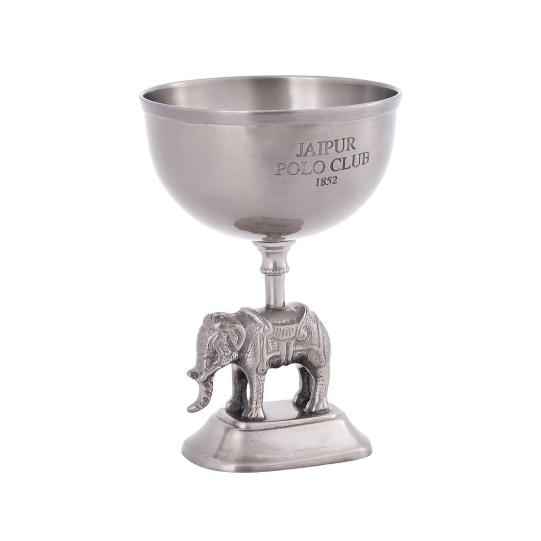 Jaipur Polo Bowl in Antique Pewter
