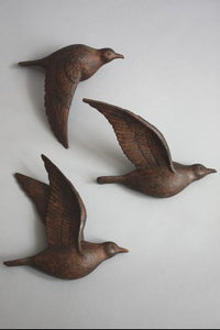 Copper Bird Wall Décor, Set of 3