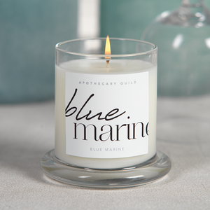 Blue Marine Apothecary Guild Scented Candle Jar