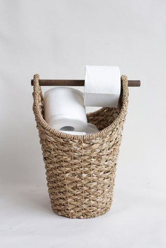 Bankuan Braided Tissue Basket w/ Wood Handle