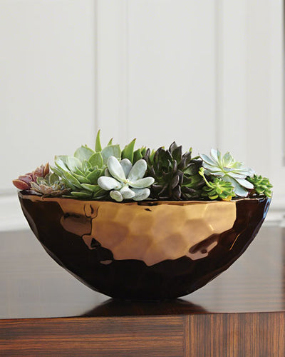 Bronze Nugget Oval Bowl