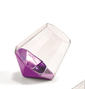 Diamond Stemless Glass - Choice of Color