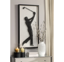 Load image into Gallery viewer, Golf Tee Point Style Golfer Framed Art Print