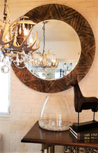 Load image into Gallery viewer, Large Round Drift Wood Mirror