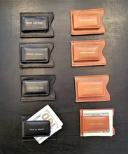 Load image into Gallery viewer, Money Talks Genuine Leather Money Clip
