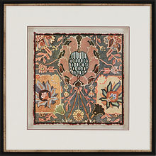 Load image into Gallery viewer, 'Persian Carpet' 4 Piece Framed Graphic Art Set