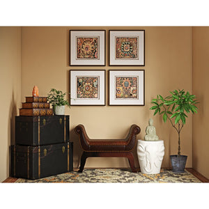 'Persian Carpet' 4 Piece Framed Graphic Art Set