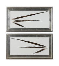 Load image into Gallery viewer, Pheasant Feathers Set of 2 Wall Art