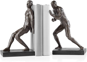 Athletic Resin Men 2 Piece Bookends Set