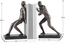 Load image into Gallery viewer, Athletic Resin Men 2 Piece Bookends Set