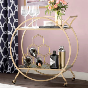 Gold Ring Bar Cart