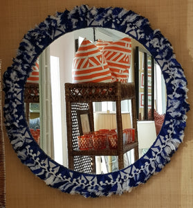 Santorini Fringe Hand-Crafted Wall Mirror