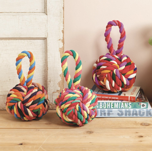 Multicolor Knot Door Stopper