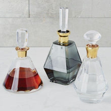 Load image into Gallery viewer, Smoke Decanter with Gold Neck