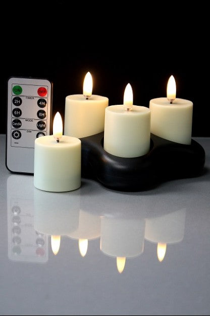 Rechargeable Tea Lights Set of 4