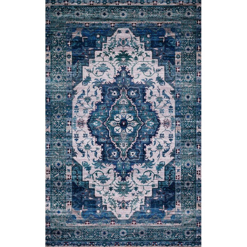 Cielo Ivory/Turquoise Rug