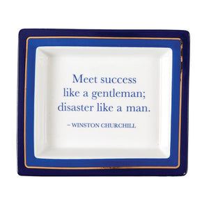 "Wise Sayings ""Meet Success Like a Gentleman; Disaster Like a Man."" Desk Tray in Gift Box - Porcelain"