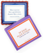 "Load image into Gallery viewer, Wise Sayings ""Meet Success Like a Gentleman; Disaster Like a Man."" Desk Tray in Gift Box - Porcelain"
