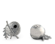 Load image into Gallery viewer, Pewter Acorn Salt & Pepper Set
