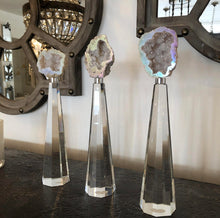 Load image into Gallery viewer, Grand Duchess Agate and Crystal Stand- Tall