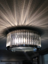 Load image into Gallery viewer, Linden Manor 2-Light Flush Mount in Polished Nickel with Diffuser