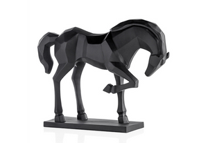 Carved Majestic Prancing Horse Decor Statue