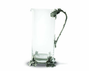 Glass Pitcher Acorn & Oak Leaf Handle
