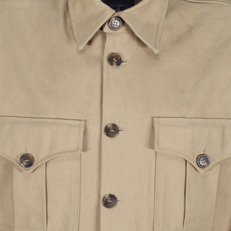 1940s Wartime Overalls in khaki twill