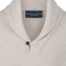 "Shawl Neck Sweater Cream - ""The Alfred"""
