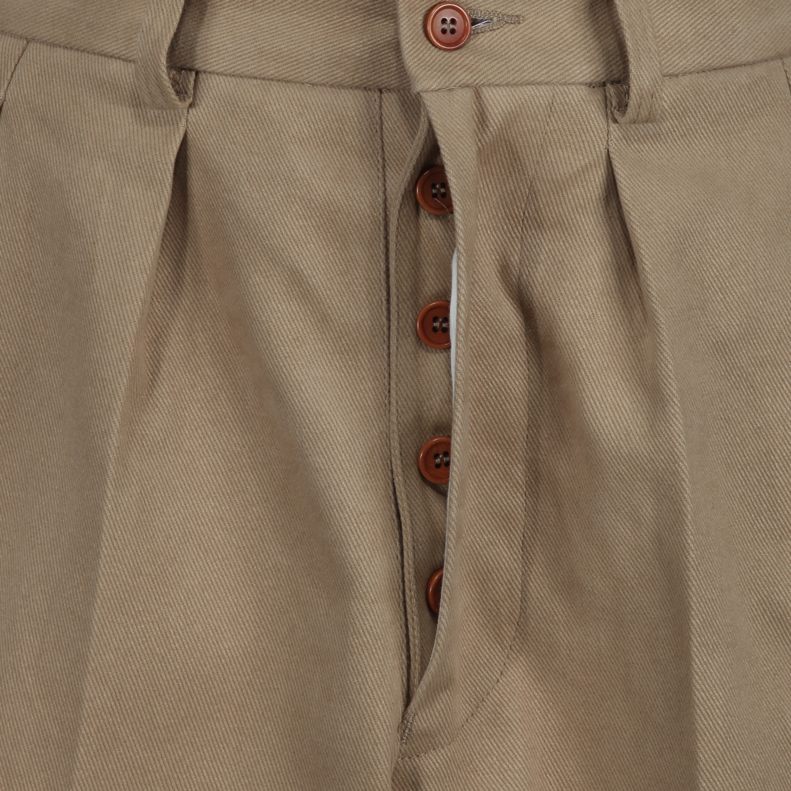 """The Errol Trouser"" in Khaki twill"